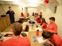High School auf See: Unterrichtsraum an Bord
