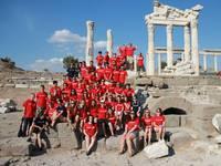 High School auf See: Gruppenfoto