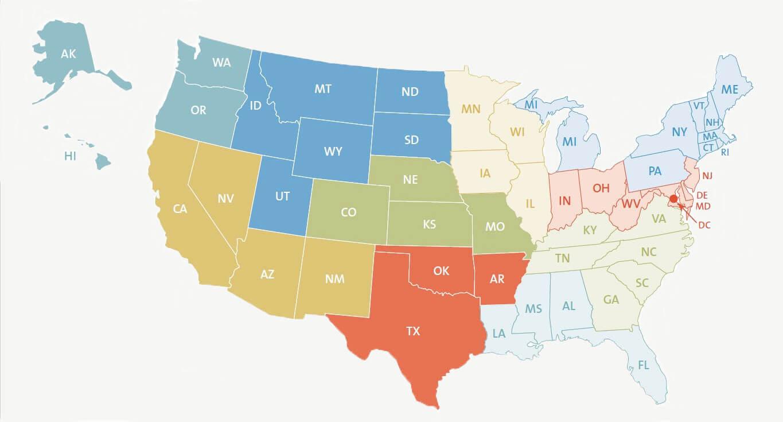 USA Regionswahl (Sommer)