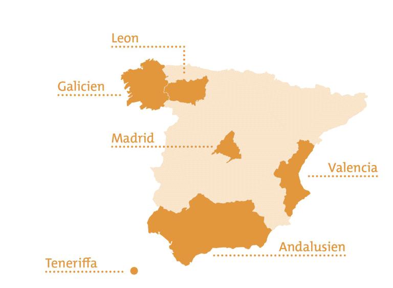 Regionen Schüleraustausch Spanien Select
