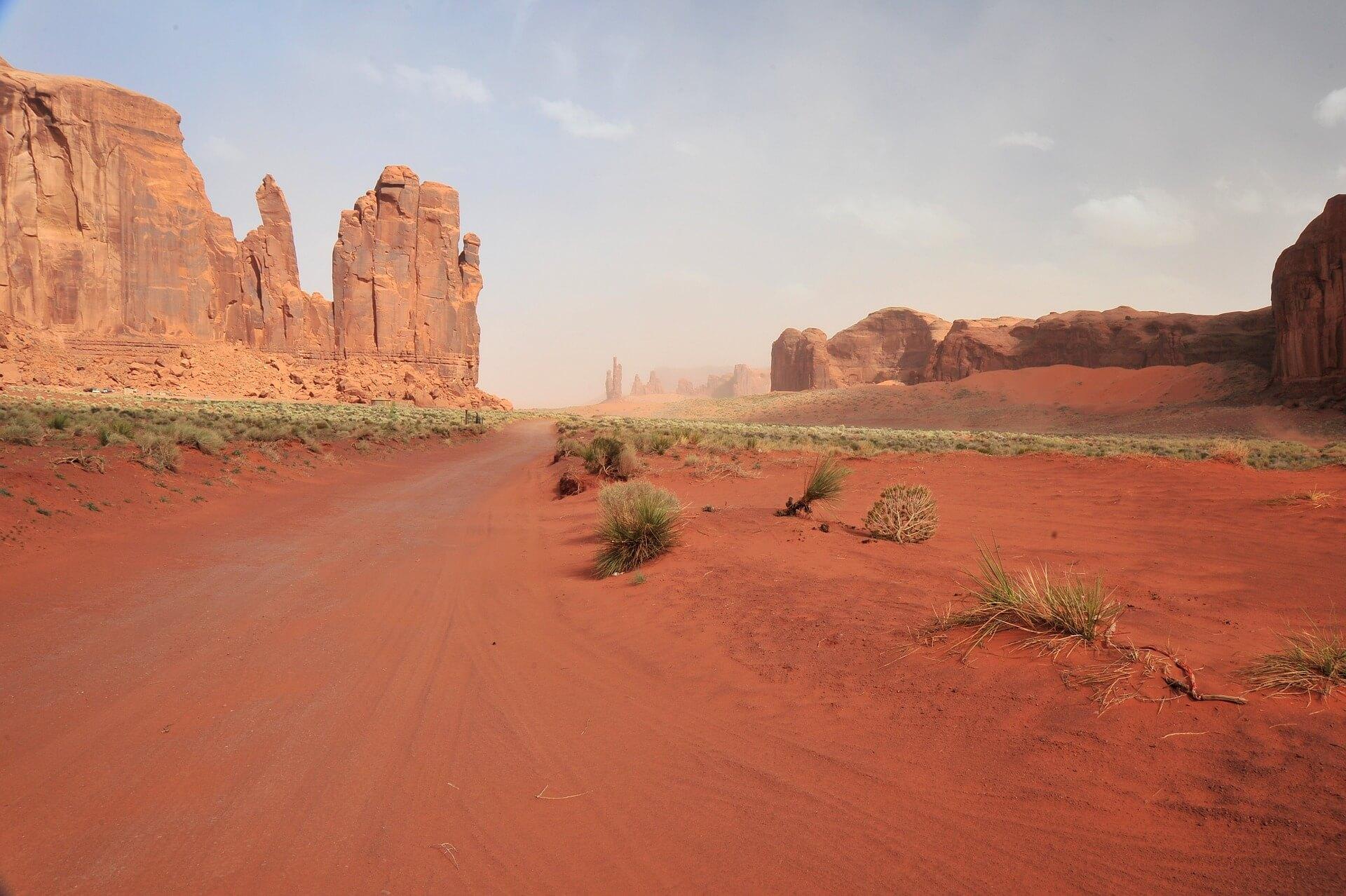 Klippen in einer australischen Wüste