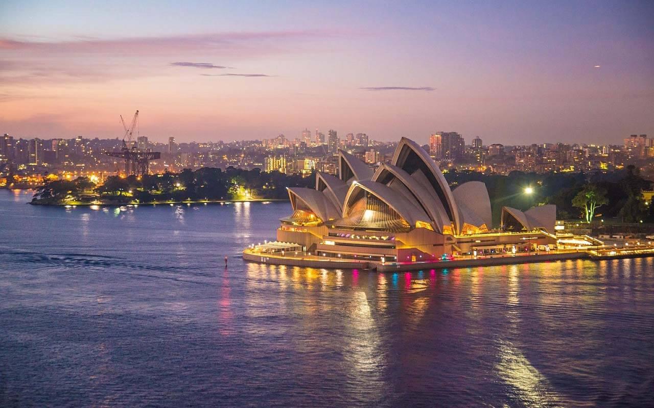 Sydney Opera House im Sonnenuntergang