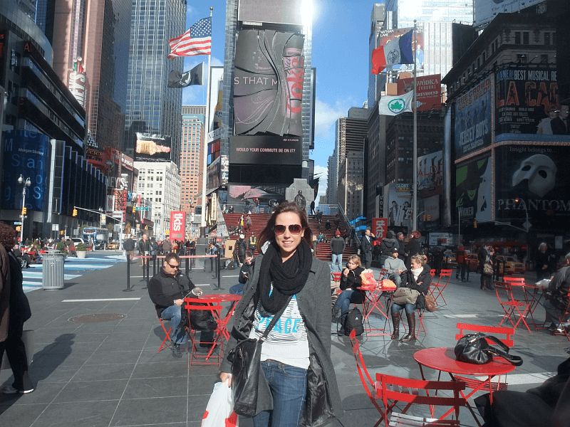 Ich, am Times Square in New York