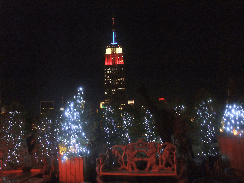 Weltneugier: New York Empire State Building bei Nacht