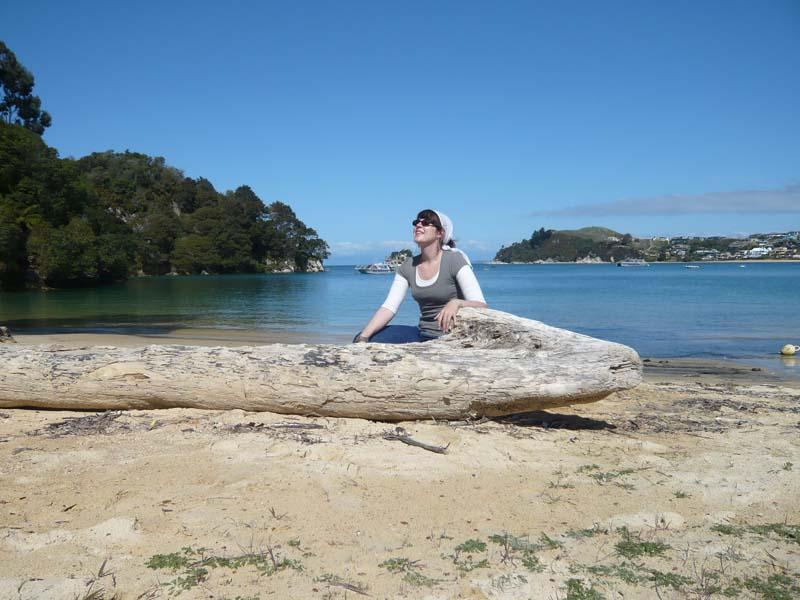 Ich in einer Bucht zwischen Abel Tasman und Kaiteriteri