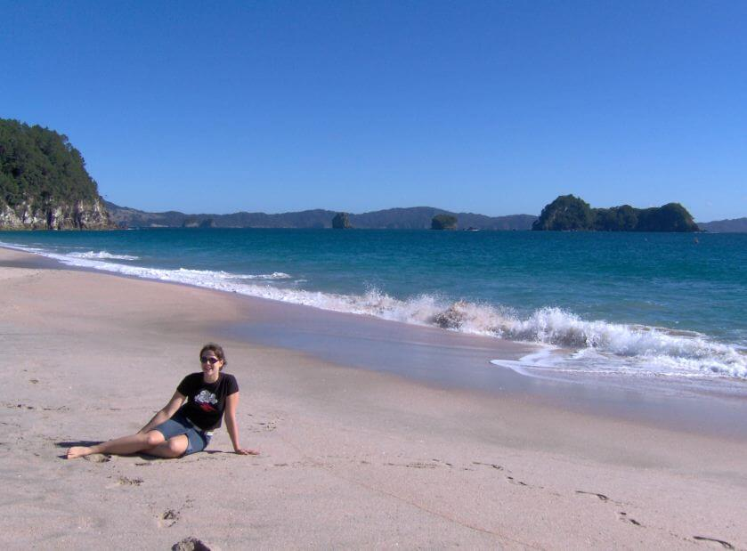 Ich am Hahei Beach bei Coromandel