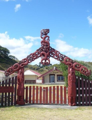 Neuseeland: Marae am East Cape