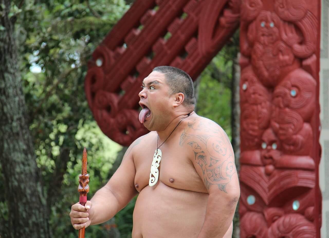 In etwa so kann man sich die Maori vorstellen