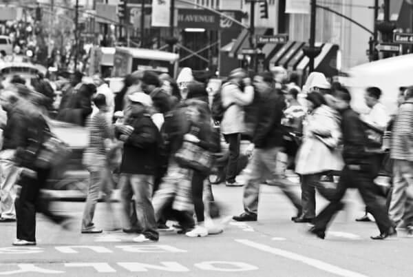 New Yorker Straßenverkehr