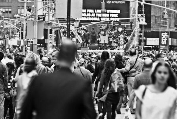 Menschenmengen New York