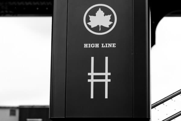 Eingang zum High Line Park