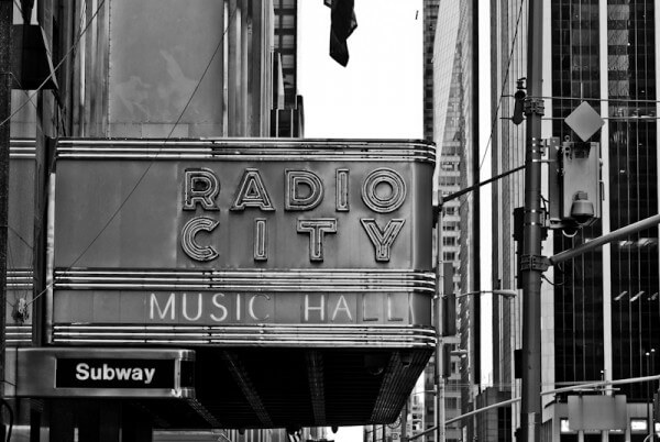 Die Radio City Music Hall in New York