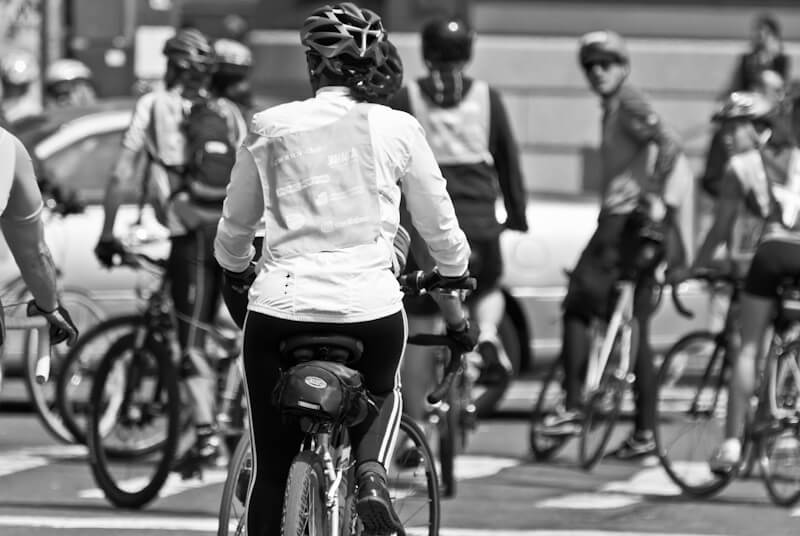 Fahrradfahrer in New York