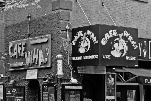 »Cafe Wha?« in New York