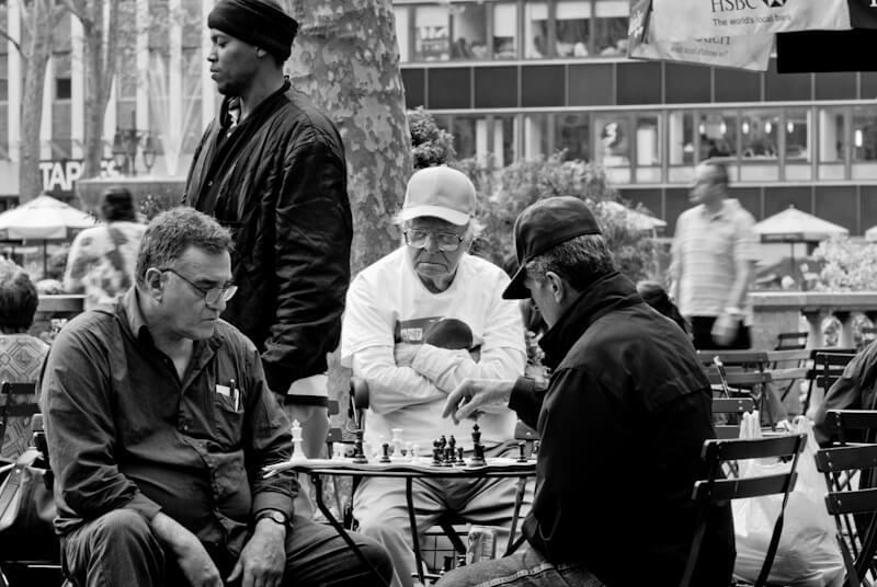 Schachspieler in New York