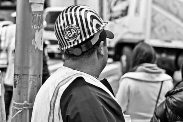Aufseher am Ground Zero