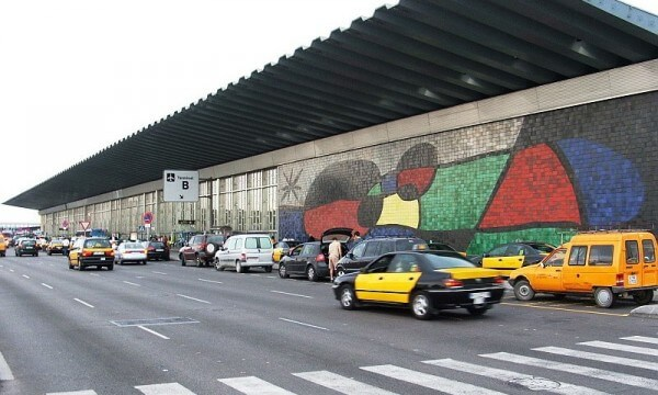 Autoschlange in Barcelona