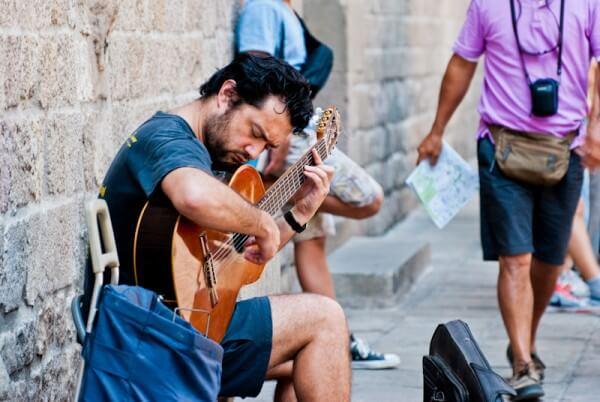 Straßenmusiker Barcelona