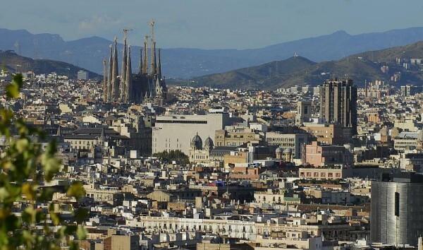 Aussicht auf die Stadt Barcelona