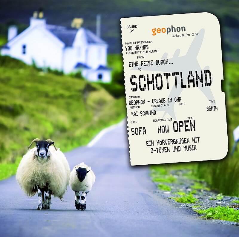 Schottland Schafe und Ticket