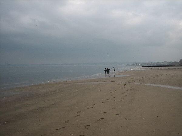 Edingburghs Strandpromenade in Portobello