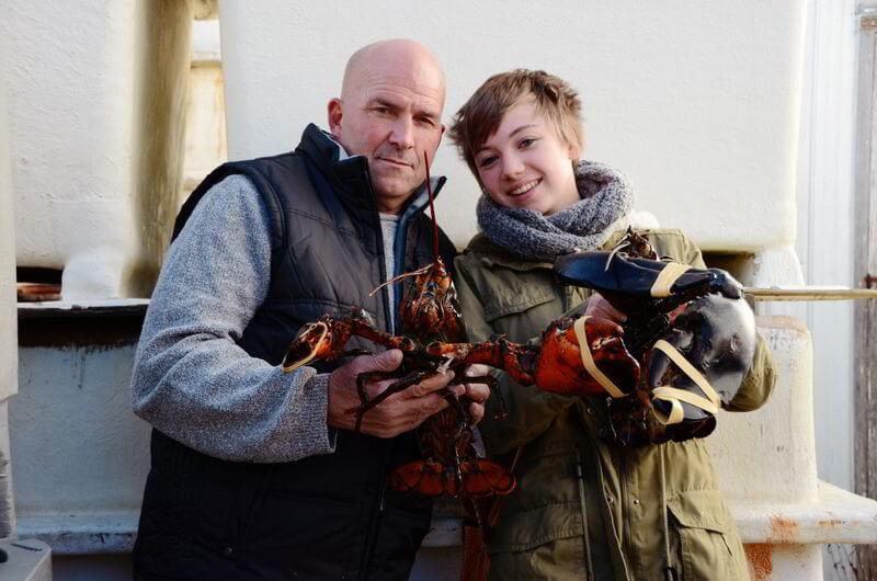 High School in Nova Scotia: Maren mit ihrem Gastvater dem Hummerfischer