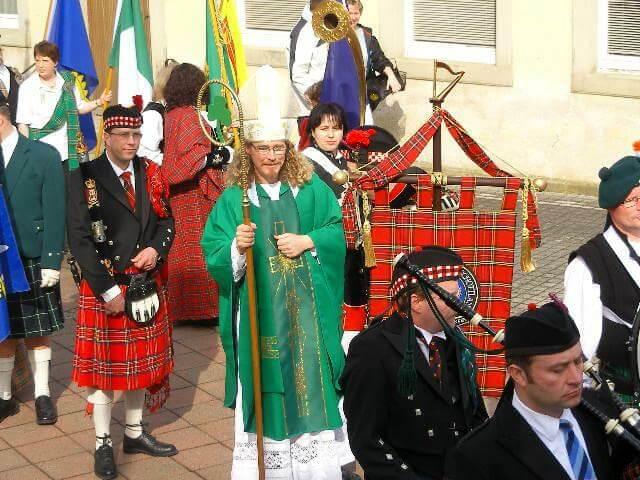 Heiliger St. Patrick bei der Parade