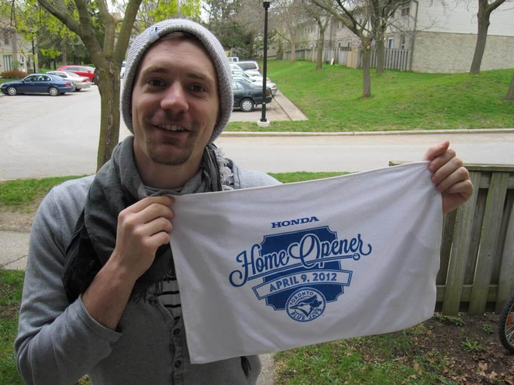Markus mit Blue Jays Handtuch