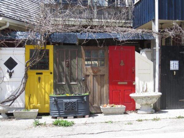 Hausfassaden in Elora