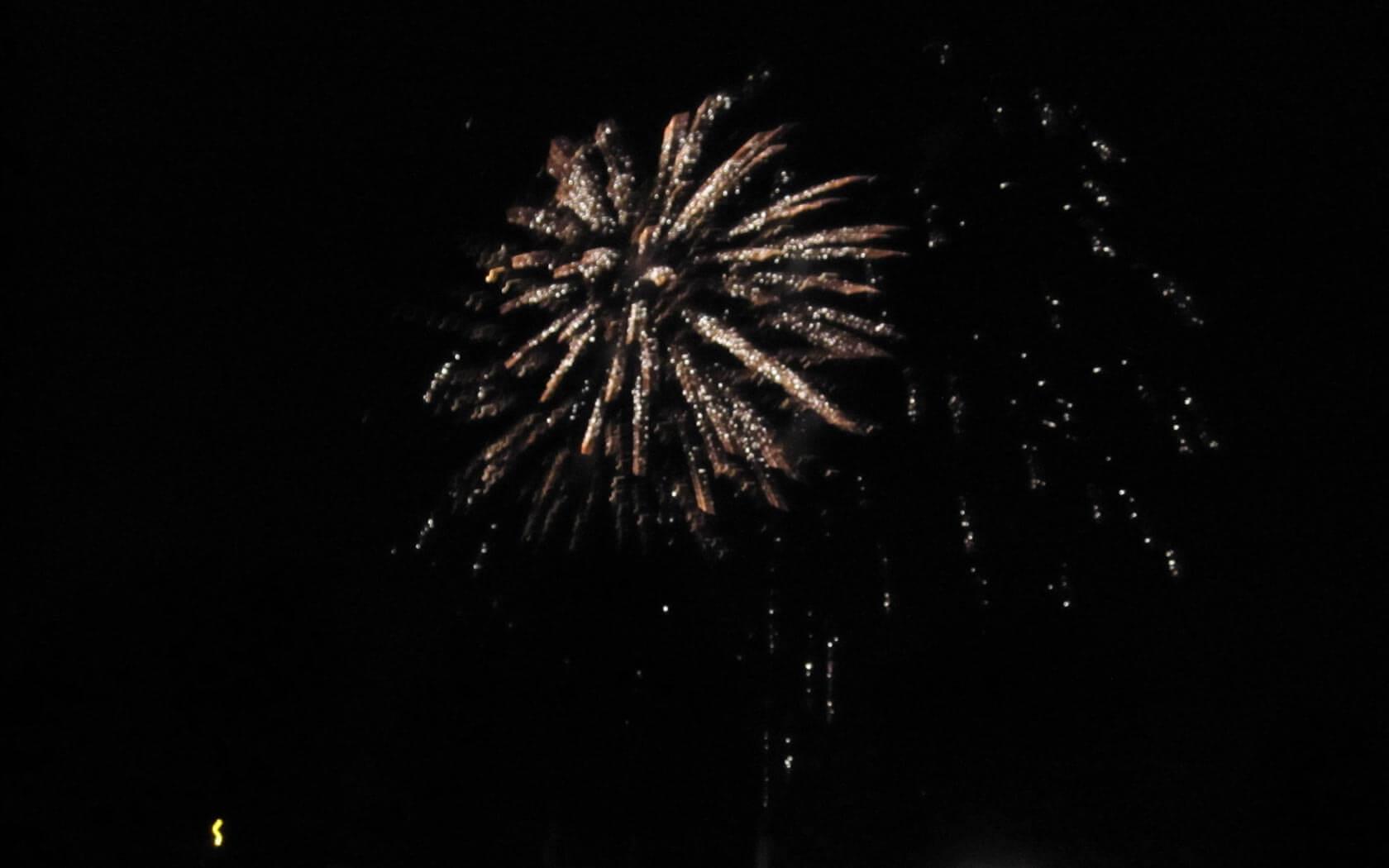 Feuerwerk am Canada Day