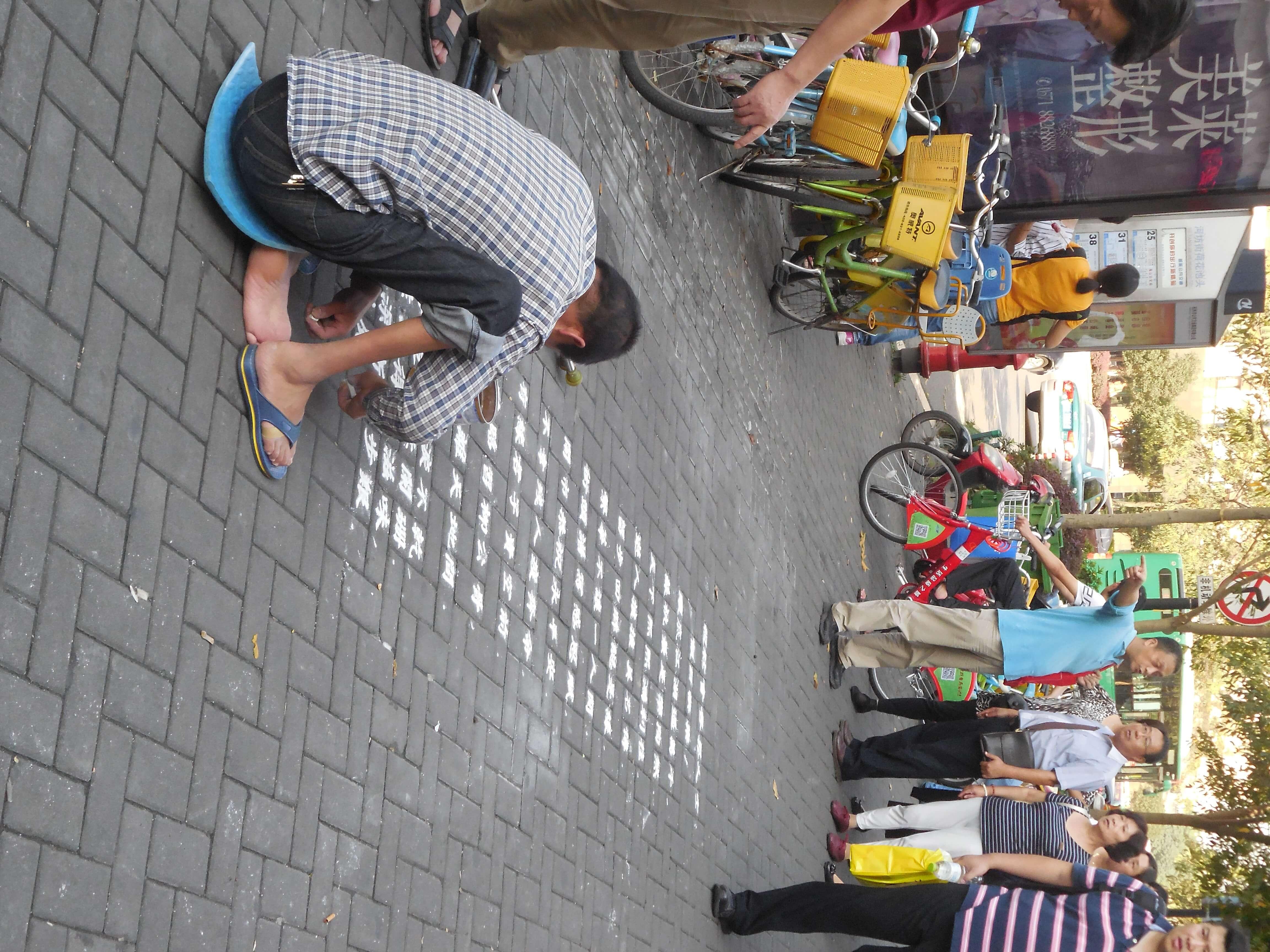 Ein typisch chinesisches Straßenbild
