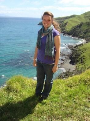 Jelena vor einer neuseeländischen Küste