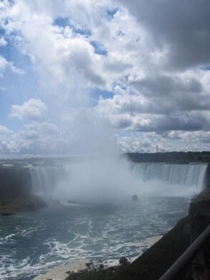 Blick auf die Niagarafälle herab