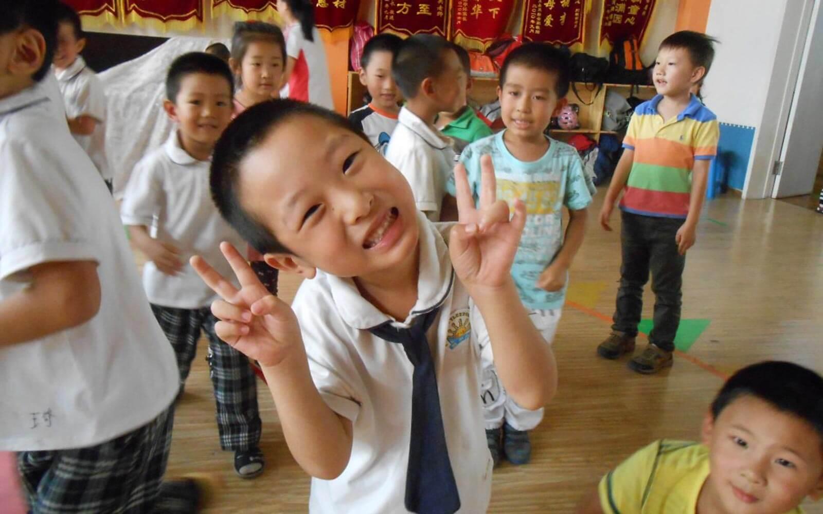 Lachendes chinesisches Kind