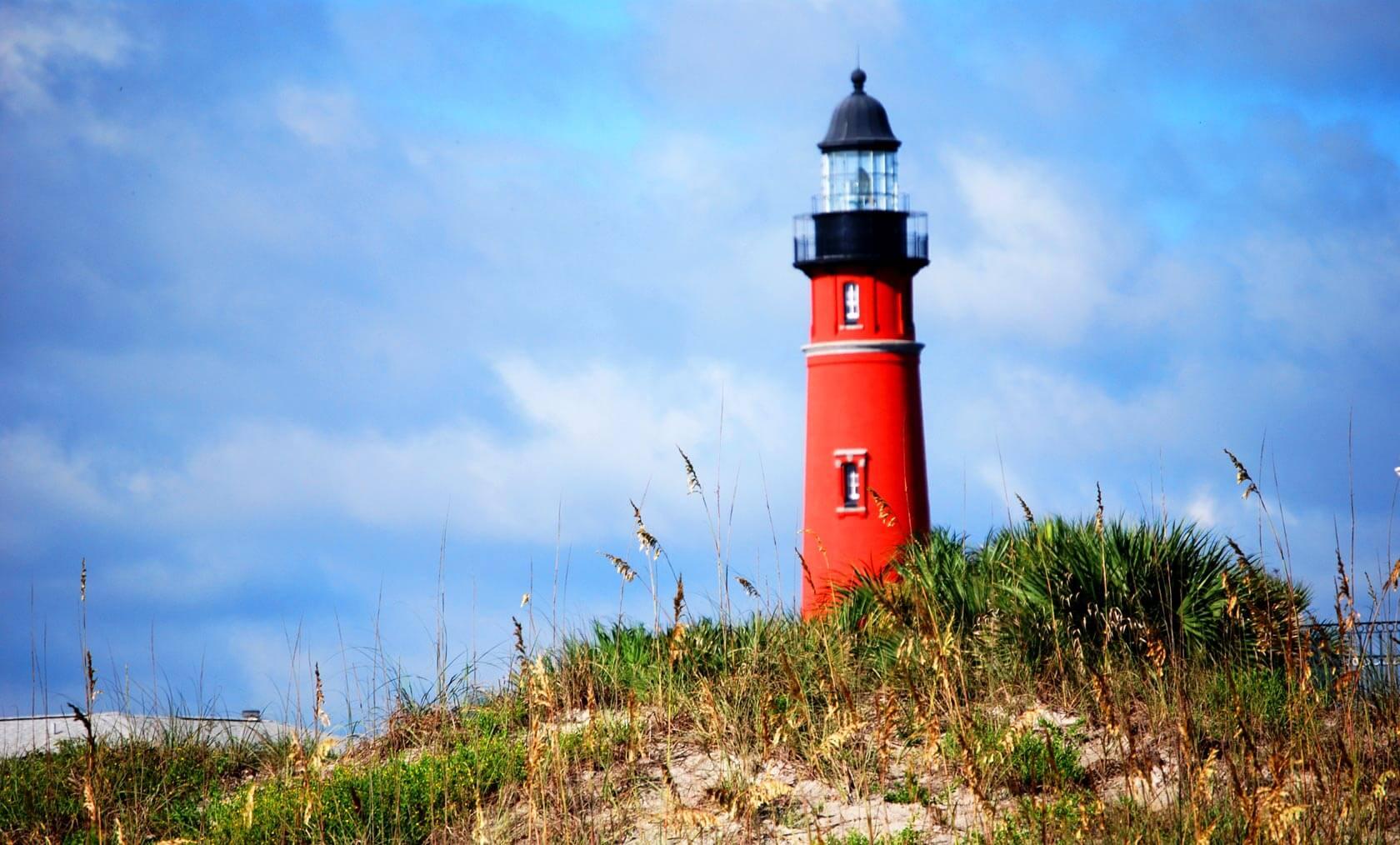Leuchtturm an der Küste Floridas