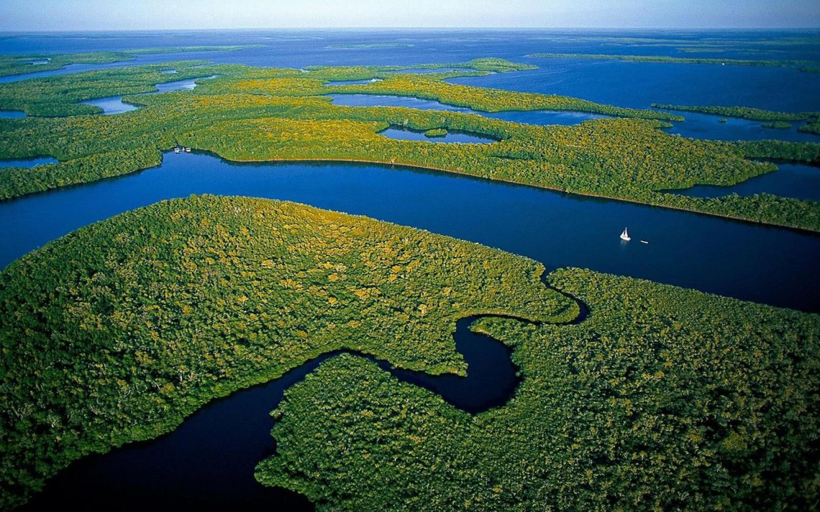 Der Everglades Nationalpark aus Vogelperspektive
