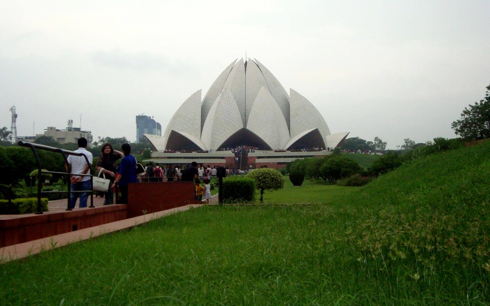 Der Lotus Temple in Delhi
