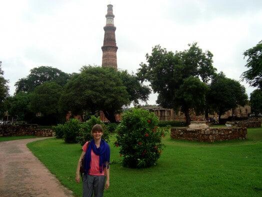 Jenny in einem Park in Delhi