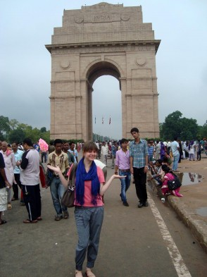Jenny am India Gate