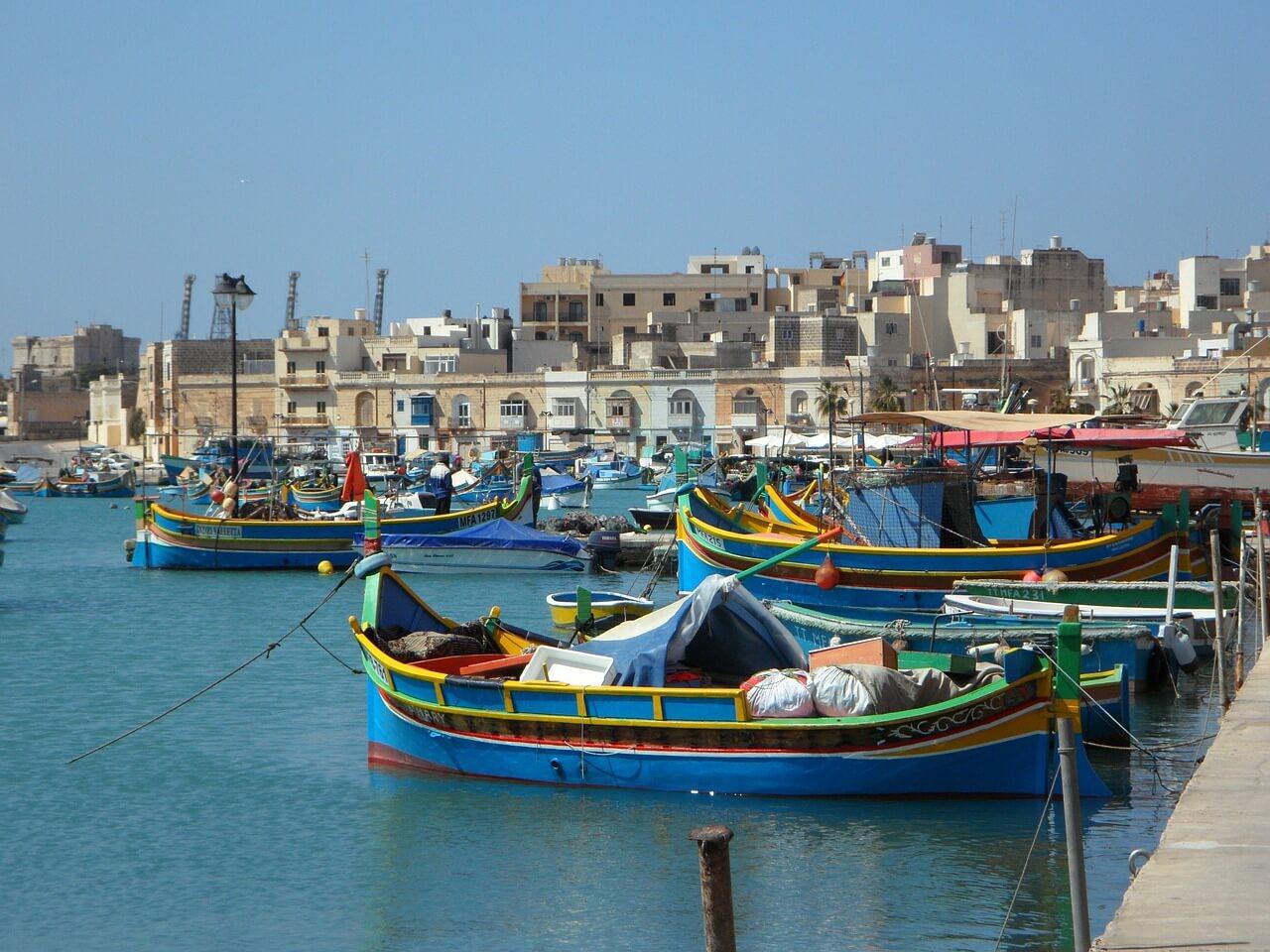 Boote im Hafen von Marsaxlokk