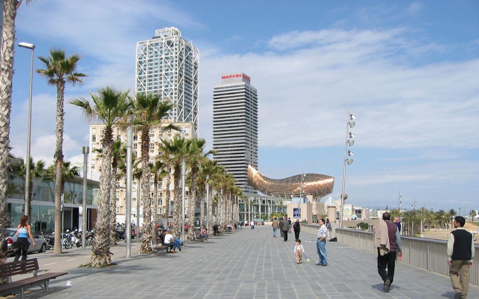 Barcelona: Strandpromenade