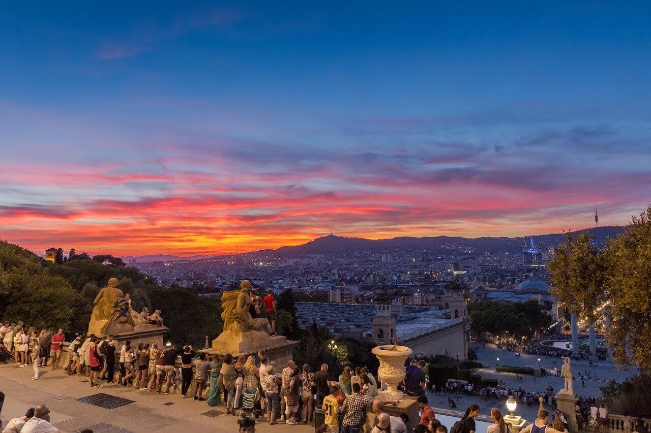 Ausblick auf die Stadt vom Montjuic