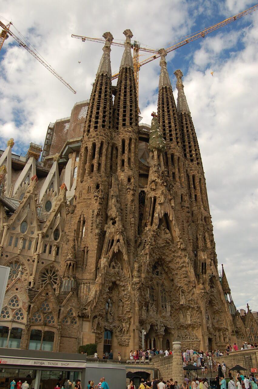 Anblick der Sagrada Familia