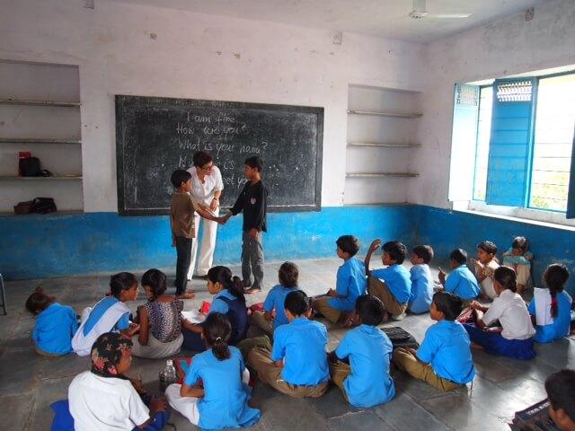 Blick in Eva's Klassenraum