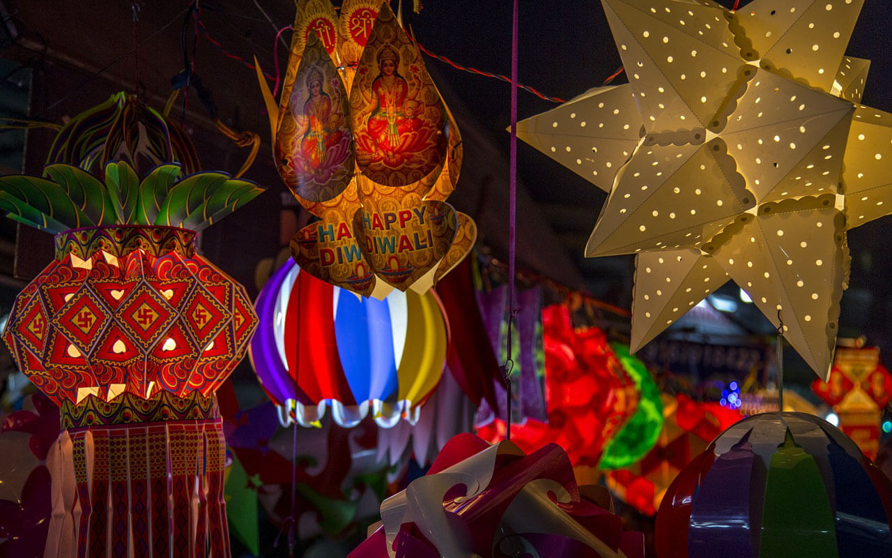 Lampions fürs Diwali-Festival