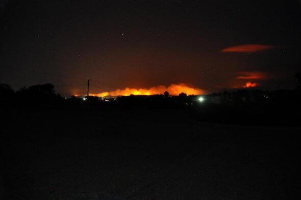 Flammen am Horizont