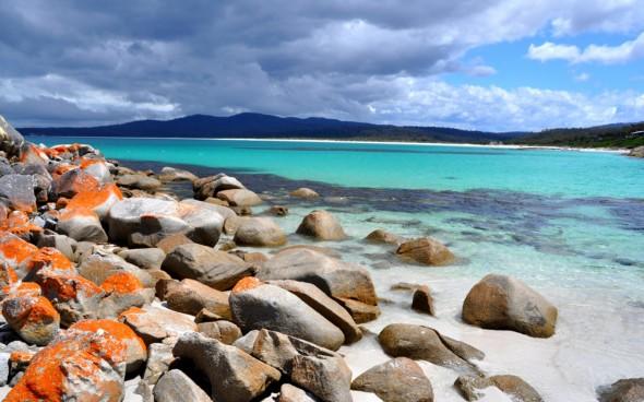 Strand in Tasmanien