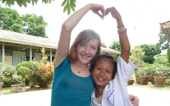 Interkulturelle Kommunikation: thailändische Schülerin