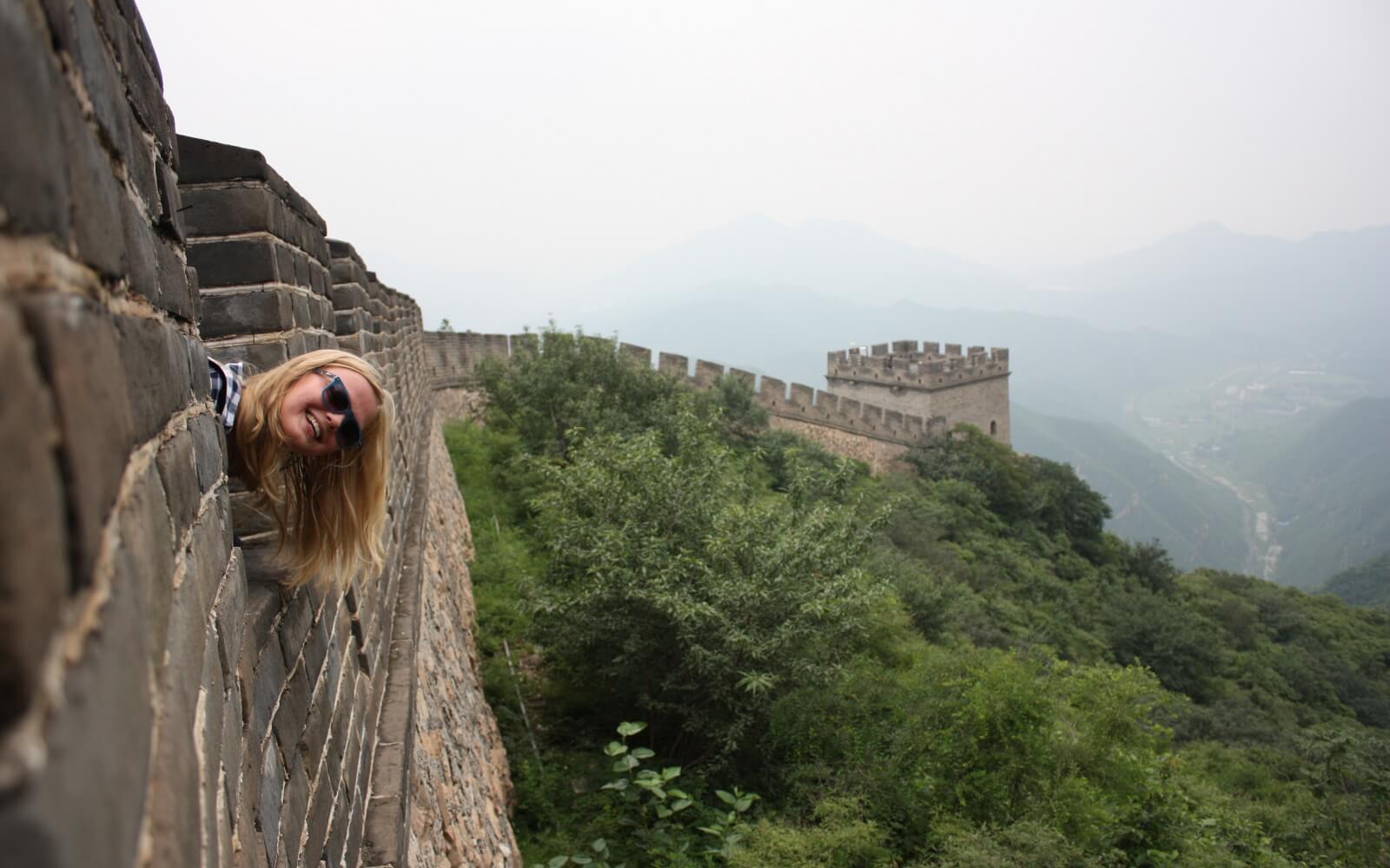 Hanna auf der großen Mauer