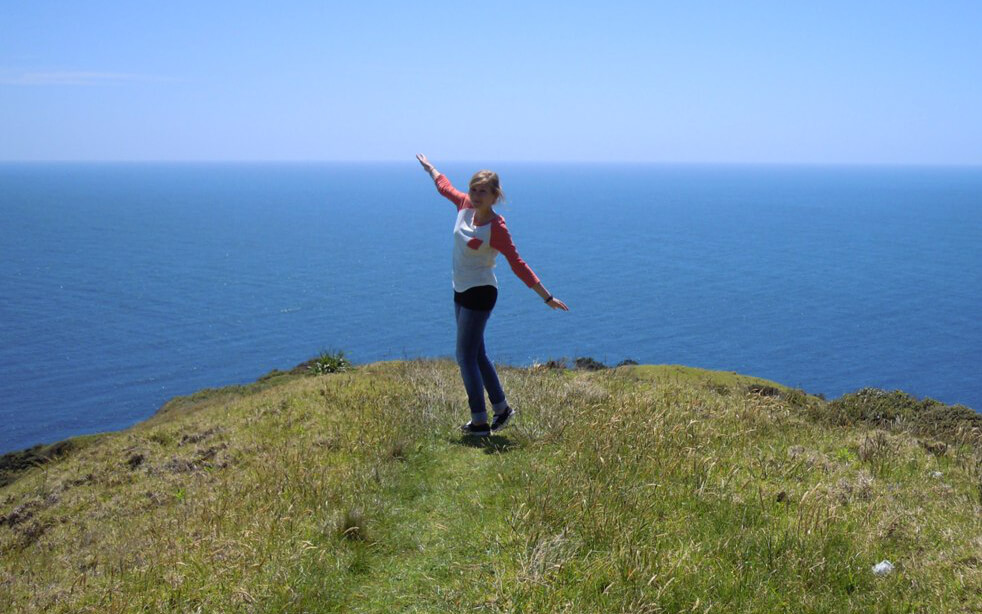 Kathrin Ferkau in Neuseeland